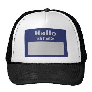 hallo, ich heisse symbol trucker hat