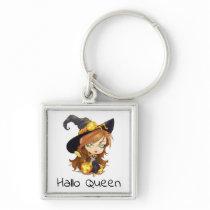 Hallo Queen Cute Witch   Halloween Keychain
