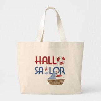 Hallo Sailor Jumbo Tote Bag