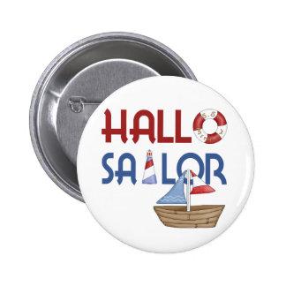 Hallo Sailor Pinback Buttons