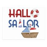 Hallo Sailor Post Card