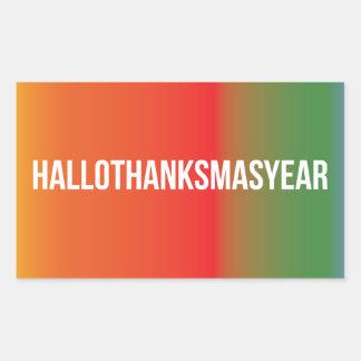 HalloThanksMasYear Rectangular Sticker