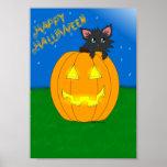 Hallow Kitty Happy Halloween Poster