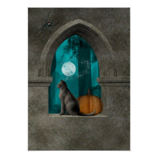 Hallow window poster