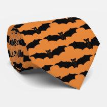 Hallowbat Halloween Bat Neck Tie