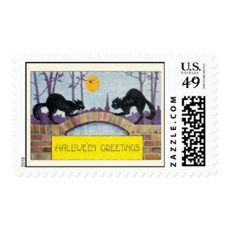 Hallowe'en Greetings Postage Stamps