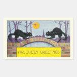 Hallowe'en Greetings Rectangle Sticker
