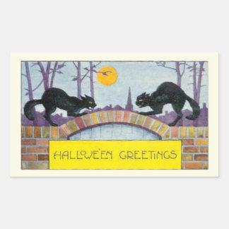 Hallowe'en Greetings Rectangular Sticker