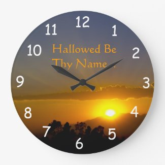 Hallowed Be Thy Name 2 Wall Clock