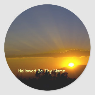 Hallowed Be Thy Name Classic Round Sticker