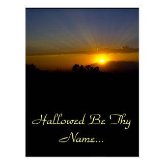 Hallowed Be Thy Name Postcard