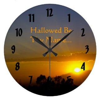 Hallowed Be Thy Name Wall Clocks
