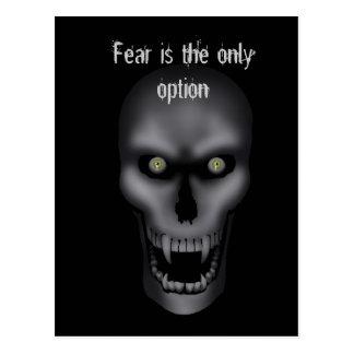 Hallowee - Creepy Skull Postcard