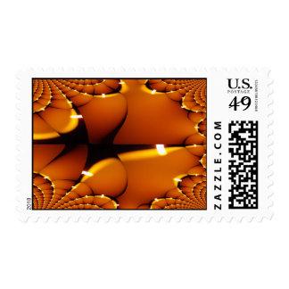 Hallowee Franqueo-Único del fractal de la calabaza Timbres Postales