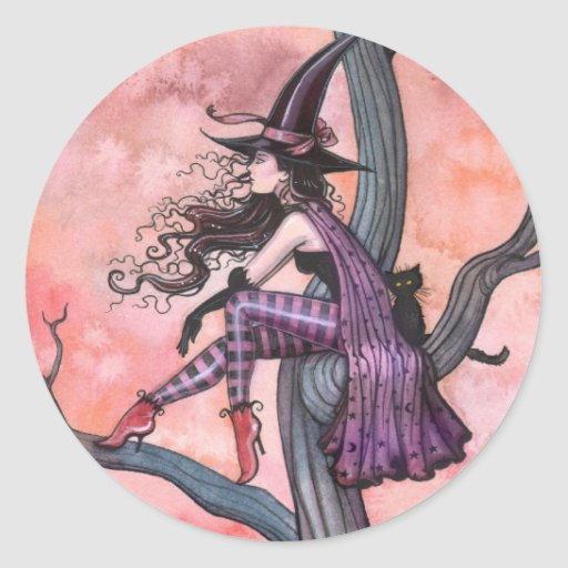 Halloweeen Witch Stickers by Molly Harrison