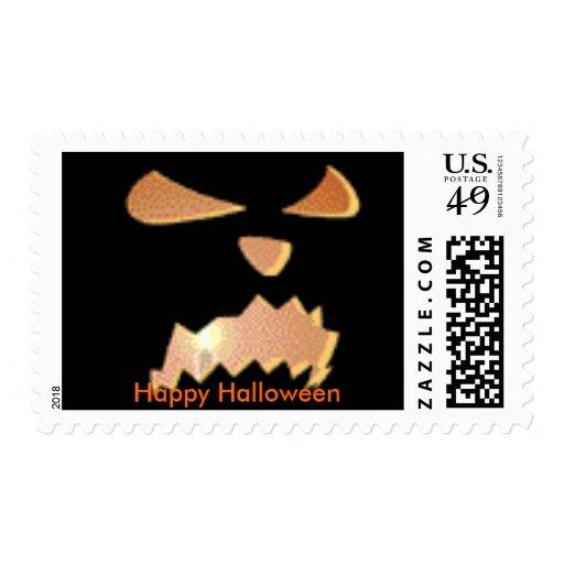 halloween52, Happy Halloween Postage Stamp
