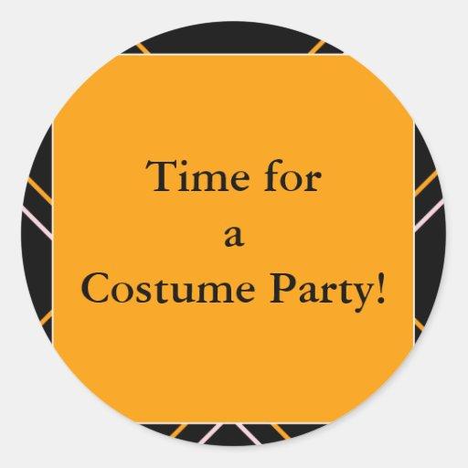 ¡halloween6, hora para un fiesta del traje! pegatina redonda