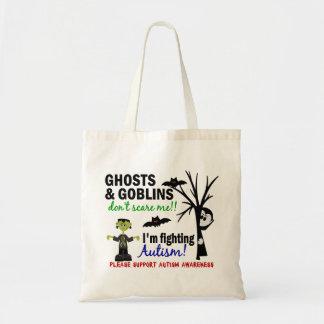 Halloween 1 Autism Canvas Bags