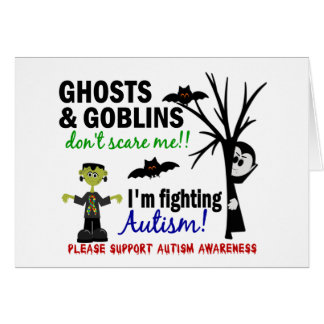 Halloween 1 Autism Greeting Card
