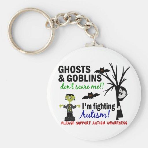 Halloween 1 autismo llavero redondo tipo pin