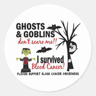 Halloween 1 Blood Cancer Survivor Round Sticker
