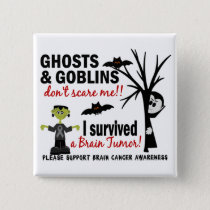 Halloween 1 Brain Tumor Survivor Pinback Button