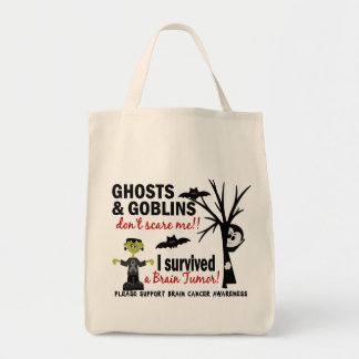 Halloween 1 Brain Tumor Survivor Tote Bag