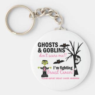 Halloween 1 Breast Cancer Warrior Basic Round Button Keychain