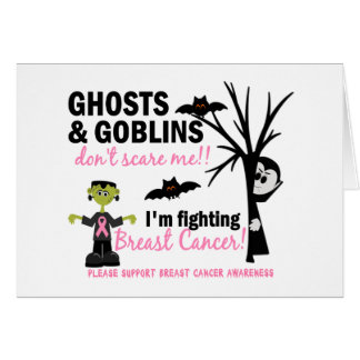 Halloween 1 Breast Cancer Warrior Greeting Card