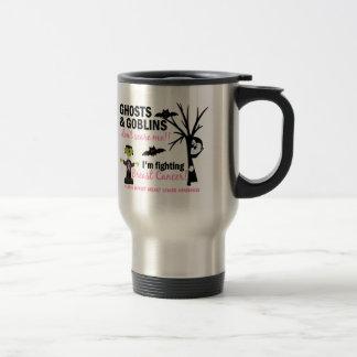 Halloween 1 Breast Cancer Warrior 15 Oz Stainless Steel Travel Mug