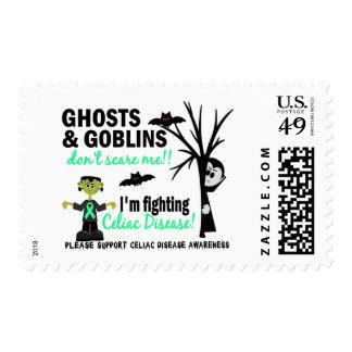 Halloween 1 Celiac Disease Warrior Postage Stamps
