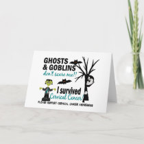 Halloween 1 Cervical Cancer Survivor Card