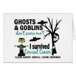Halloween 1 Cervical Cancer Survivor Greeting Cards
