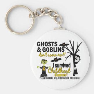 Halloween 1 Childhood Cancer Survivor Keychains
