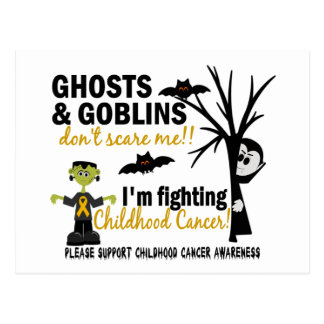 Halloween 1 Childhood Cancer Warrior Postcard