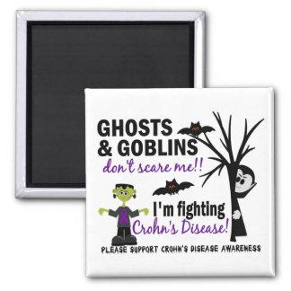 Halloween 1 Crohn's Disease Warrior 2 Inch Square Magnet