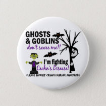 Halloween 1 Crohn's Disease Warrior Button
