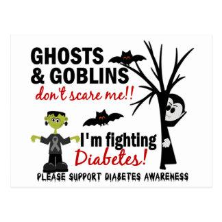 Halloween 1 Diabetes Warrior Postcard