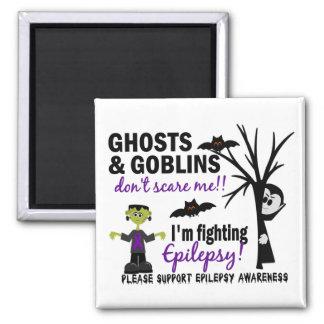 Halloween 1 Epilepsy Warrior 2 Inch Square Magnet