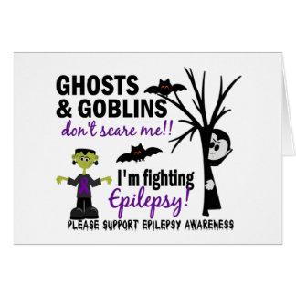 Halloween 1 Epilepsy Warrior Greeting Card