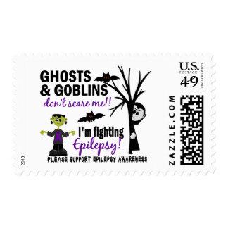 Halloween 1 Epilepsy Warrior Postage Stamp
