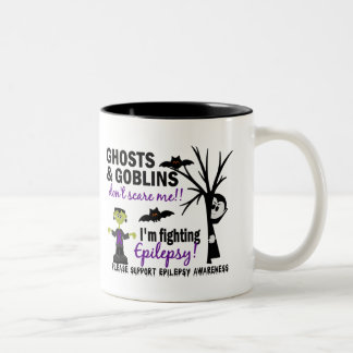 Halloween 1 Epilepsy Warrior Two-Tone Coffee Mug