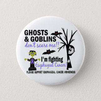 Halloween 1 Esophageal Cancer Warrior Pinback Button