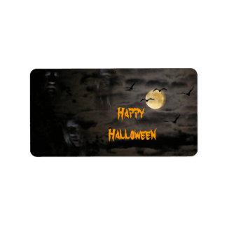 Halloween #1 etiquetas de dirección