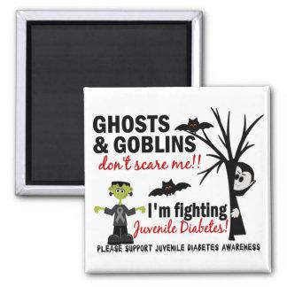 Halloween 1 guerrero de la diabetes juvenil imán cuadrado