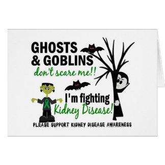 Halloween 1 guerrero de la enfermedad de riñón tarjeta de felicitación