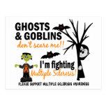 Halloween 1 guerrero de la esclerosis múltiple postal