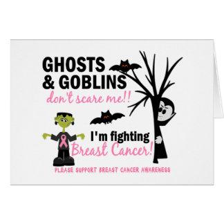 Halloween 1 guerrero del cáncer de pecho tarjeta de felicitación
