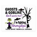 Halloween 1 guerrero del Fibromyalgia Tarjetas Postales