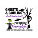 Halloween 1 guerrero del Fibromyalgia Tarjeta Postal